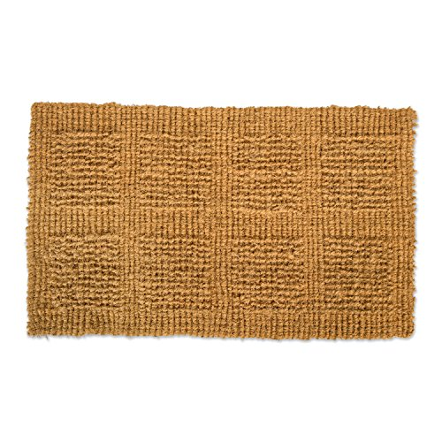 Natural Coir Coco Fiber Indoor/Outdoor Plain Woven Doormat, 30x48