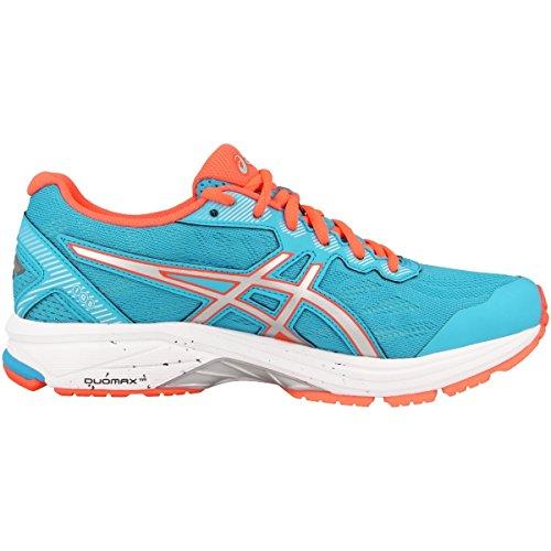 Asics Gt-1000 5, Zapatillas de Running para Mujer Azul-Naranja-Plateado