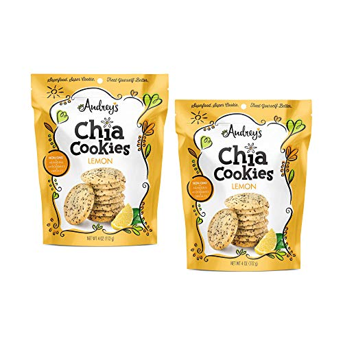 Audrey's Chia Cookies - (Lemon, 2 Pack) - Natural, Antioxidants, Omega-3's, Non-GMO