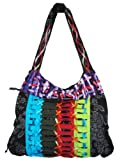 Hobo Bohemian Hippie Ripped Razor Cut Twist Tie Hand Bag Purse Nepal By Shangrila Nook