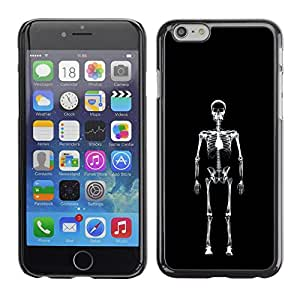 LASTONE PHONE CASE / Carcasa Funda Prima Delgada SLIM Casa Carcasa Funda Case Bandera Cover Armor Shell para Apple Iphone 6 Plus 5.5 / Layer X Ray Skeleton Skull