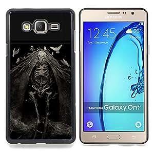 - Evil Ghost Death Goth Nightmare - - Cubierta del caso de impacto con el patr??n Art Designs FOR Samsung Galaxy On7 G6000 Queen Pattern