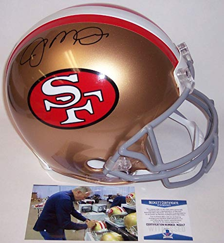Joe Montana Autographed Hand Signed San Francisco 49ers Throwback Full Size Authentic Pro Helmet - BAS Beckett ()