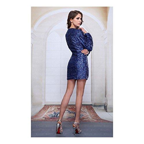Cocktail Für Blau Mini Damen Ital bei Kleid Festamo Design w6Zdwq