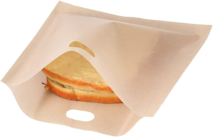 1 Piece Reusable Toaster Bag, Non Stick Washable Teflon Bread Bag for Toast Sandwich Snacks in Microwave Grill Toaster, Fiberglass Microwave Heating Pastry Snacks Pocket (1616.5CM)