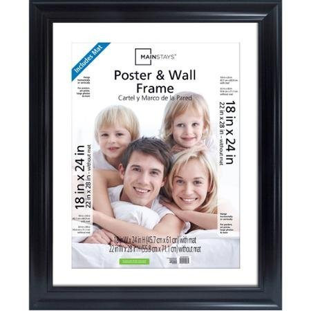 Classic Styles Mainstays Decor 22x28 Matted to 18x24 Wide Black Poster and Picture Frame by Mainstays Decor   B01ESAHB3Q