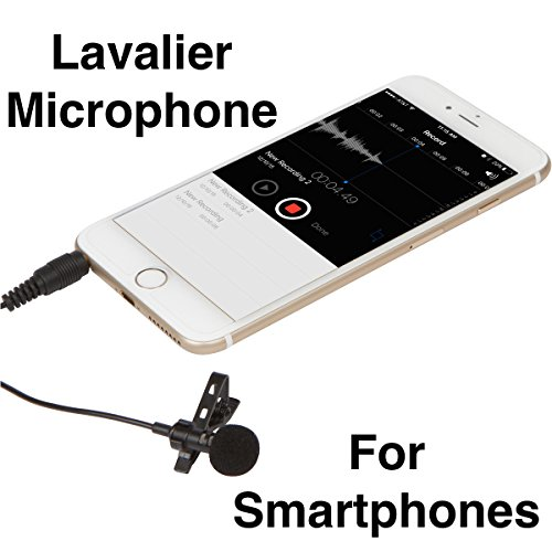 #1 Best Lavalier Microphone, Over 6.5 Feet Long (Limited Time)! Professional Lapel Clip-on Mic for iPhone, iPad, iPod Touch, Android, Samsung, & Windows (Amazon Prime Contact Phone Number compare prices)