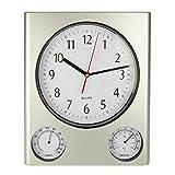 Poolmaster 52602 Clock/Thermometer/ Hygrometer - Silver