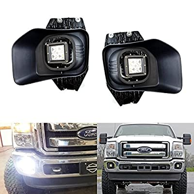 iJDMTOY Complete High Power LED Fog Lights For Ford F-250 F-350 F-450 Super Duty