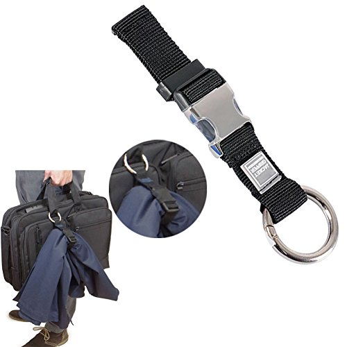 Add-A-Bag Luggage Strap Jacket Gripper, Luggage Straps Baggage Suitcase Belts Travel Accessories - Make Your Hands Free, Easy to Carry Your Extra Bags, Black