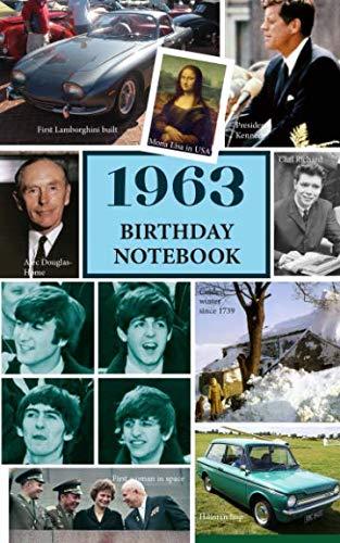 1963 Birthday Notebook: a great alternative to a birthday card