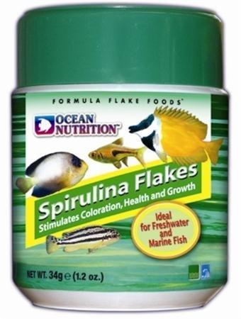 Ocean nutrition spirulina flake food 1 2 oz animals pet for Spirulina fish food