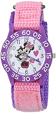 DISNEY Girl's Minnie Mouse' Quartz Plastic and Nylon Casual Watch, Color:Pink (Model: WDS000165) by eWatchFactory