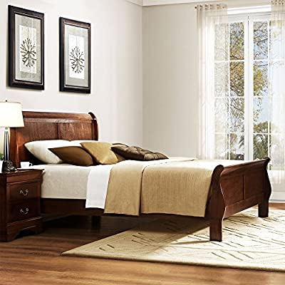 Weston Home Hayworth Sleigh Bed - Brown