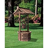 Wood Burnt Finish Wishing Well