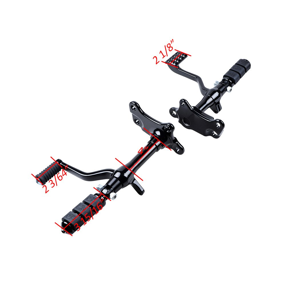Selected Full Set Forward Controls Foot Pegs Levers Linkage Replacement for Harley Sportster XL 1200 883 , Chrome 2004-2013