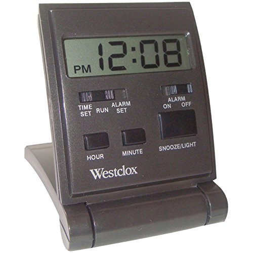 Westclox Travelmate Folding Alarm Clock Black Folding Clock