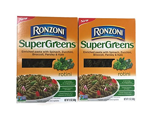 Price comparison product image Ronzoni SuperGreens Rotini Pasta, 12 Oz. Boxes (Set of 2)