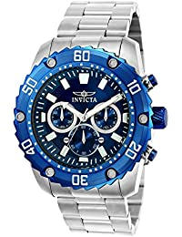 Men's 'Pro Diver' Quartz Stainless Steel Casual Watch, Color:Silver-Toned (Model: 22517)
