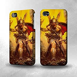 Apple iPhone 4 / 4S Case - The Best 3D Full Wrap iPhone Case - Viking Warrior