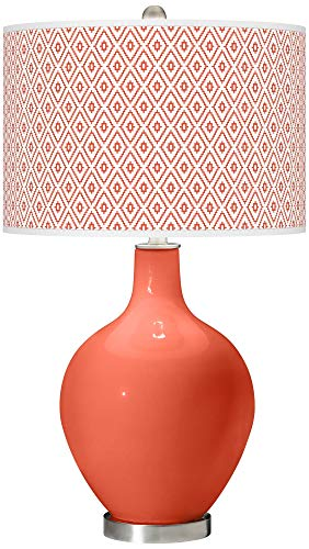 (Daring Orange Diamonds OVO Table Lamp - Color +)