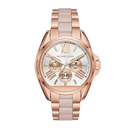 Michael Kors Access Touchscreen Rose Gold Acetate Bradshaw Smartwatch MKT5013
