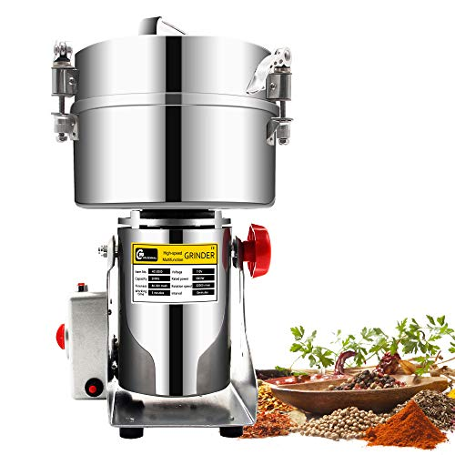 2000g Commercial electric stainless steel grain grinder mill Spice Herb Cereal Mill Grinder Flour Mill pulverizer