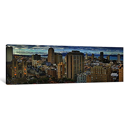 iCanvasART 1 Piece Buildings in a City Looking Over Pacific Heights from Nob Hill, San Francisco, California, USA 2011 Canvas Print by Panoramic Images, 36