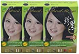 Natural Hair Color, Herbal Hair Dye & Hair Nutrition by Extracted Ginseng,Henna Hair Color Colorants for Women & Men, Permanent (3 Pack, Black)