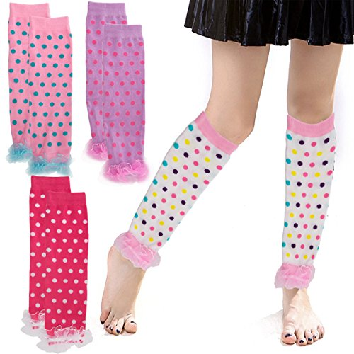 Cupcake Costumes For Kids Pattern (Princess Expressions (4 Pack) Baby-Toddler Girls Leg Warmers Patterned Dance Ruffles)