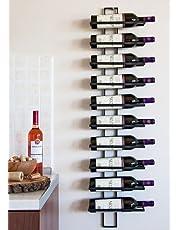DanDiBo Wijnrek wandrek Dit 116 cm van metaal voor 10 flessen flessenhouder 11699