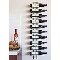 DanDiBo Scaffale vini Scaffale a parete Dies 116 cm in metallo per 10 bottiglie Supporto bottiglie Porta bottiglie 11699