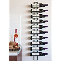 Dies - Scaffalatura portabottiglie di vino a muro, capienza totale 10 bottiglie, 116 cm