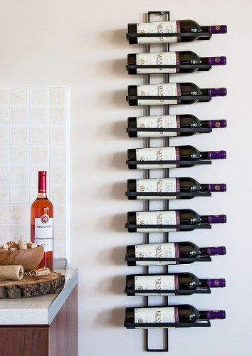 Weinregal Wandregal Dies 116cm aus Metall für 10 Flaschen Flaschenständer Flaschenhalter 11699