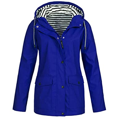 Trench Coat Femme Grande Taille,SINWASD Couleur Pure Manches