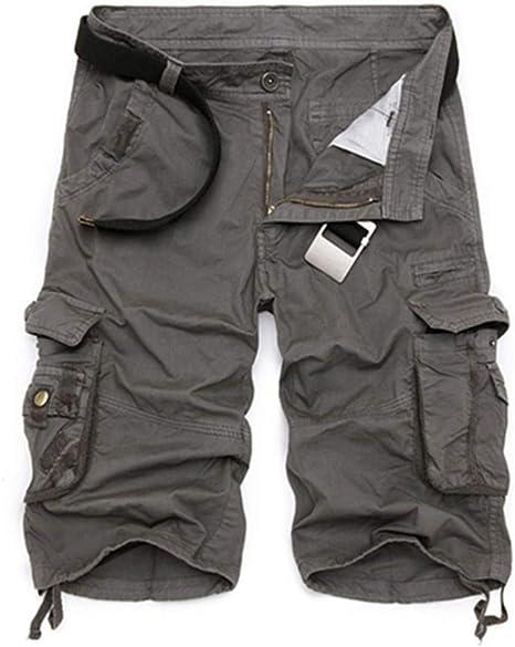 Pantalones Cortos Cortos Hombre Cool Camuflaje Casual De Algodón ...