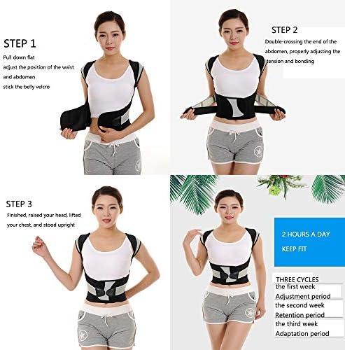 姿勢は矯正を改善し、治療姿勢は背中の支柱をサポートし、肩の脊椎サポートは姿勢を改善します。 (Size : XL)