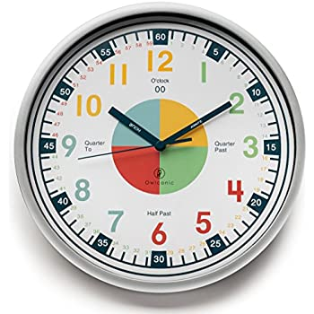 Teaching Clock With Silent Movement | Educational Clock That Makes Kidu0027s  Learning Time Faster + Fun. Quiet Childu0027s Wall Clock Perfect For Parents  And ...