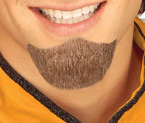 Fake Beard And Mustache (Forum Novelties Men's Handmade Novelty Goatee, Brown, One Size)