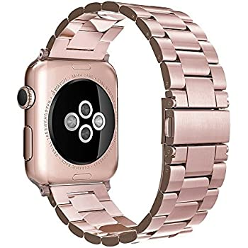 Simpeak Stainless Steel Band Strap for Apple Watch 38mm Series 1 Series 2 - Rose Gold
