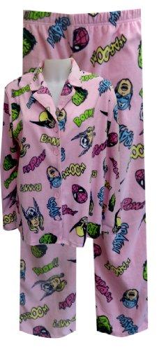 Marvel Comics Heroes Pink Pajama Set