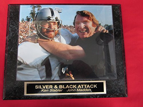 Ken Stabler John Madden Oakland Raiders Collector Plaque w/8x10 Photo