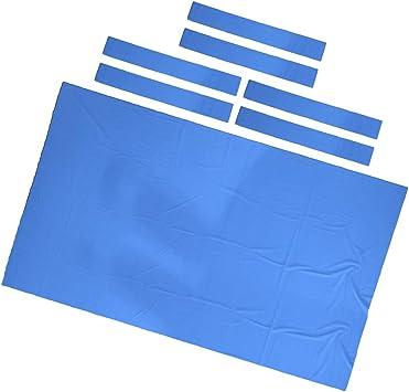 SM SunniMix Cubierta de Nylon de Tela de Billar para Mesa de Billar - Azul, 2.8x1.5m: Amazon.es: Deportes y aire libre