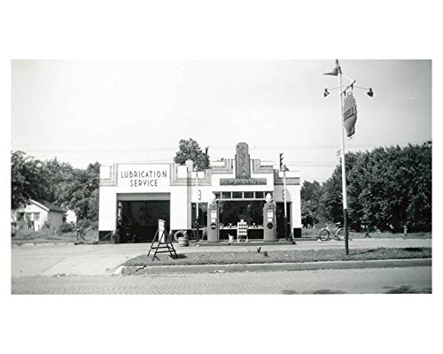 1941 Shell Gas Station Photo Gas Globe from AutoLit