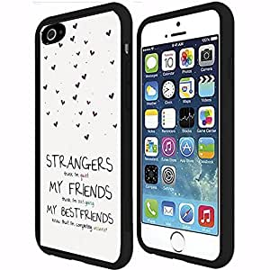 Best Friend Quote RUBBER Snap on Phone Case (iPhone 6 Plus)