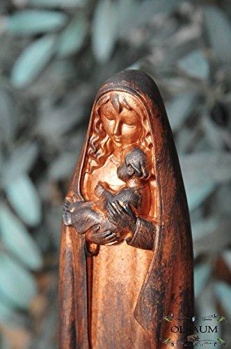 12 – 13 cm, Antiguo Rojo, virgen María Virgen Madre de Dios con niño