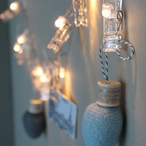 Miaro L4 40 LED Photo Clips String, Wedding Party Christmas Indoor Home Decor Lights, White by Miaro (Image #4)