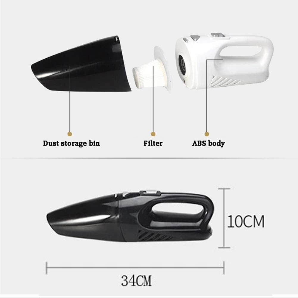 LAHappy Aspirateur Portable sans Fil Rechargeable 120W Aspirateur à Main avec 3500Pa Aspiration puissante, pour Maison, Voiture, Bureau,Blanc White