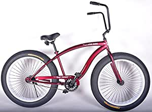 Colby Cruiser Duke 4.0 Fat Tire Beach Cruiser (Crimson/White)
