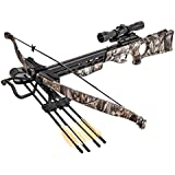 SAS 175lbs G1 Camo Recurve Hunting Crossbow 4x32 Scope Package